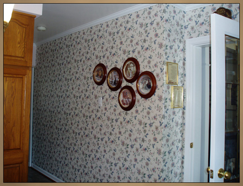 Before decorative wall panels installed