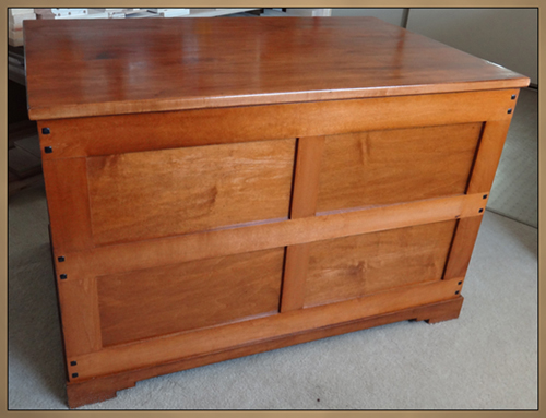 Custom Wood Furniture - Toy Chest