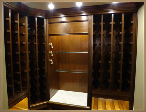 Fine Woodworking - Upper view of Custom Wine Rack Cabinets