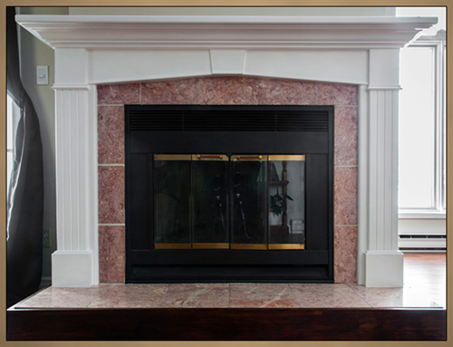 Custom Wood Keystone Fireplace Mantel Surround